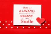 There is always reason to smile! — Stock Photo