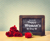 Happy Womans Day message — Stock Photo