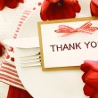 Thank You card and tulips — Stock Photo #66438917