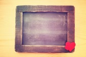 Empty Chalkboard with Hearts — Fotografia Stock