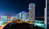 Miami City at Night — Stock Photo
