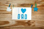 Fathers day message card — Stock Photo