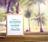 Inspirational message card — Stock Photo