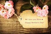 Mothers day card with roses — Stock Photo