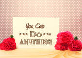 You Can Do Anything Message Card — Stockfoto