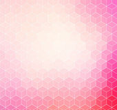 Pink geometric background with white outline — Stock Vector