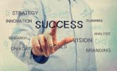 Success concept with young man — Stock Photo