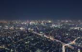 Night cityscape high above Tokyo — Stock Photo