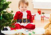 Little happy girl ready for Christmas — Stock Photo