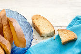 Typical ligurian dried biscuits called Lagaccio — Stock Photo