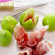 Ripe figs with Parma ham — Stock Photo #52881971