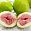 Ripe figs close up over white wood — Stock Photo #52882967