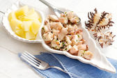 Octopus with steamed potato recipe — Stock Photo