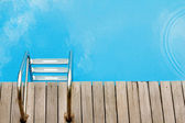 Relax concept with swimmingpool topview — Stock Photo