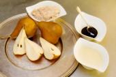 Recipe of kaiser pear cream — Stock Photo