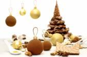 Chirstmas sweets and food garnish for christmas table — Stock Photo