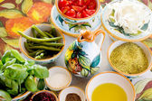 Mediterranean food ingredients and spices — Stock Photo
