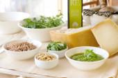 Fresh ingredients for ligurian recipe — Stock Photo