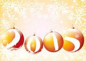 Happy new year 2015 in golden colors — Stock Vector