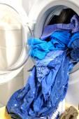 Laundry and washing machine — Stock Photo