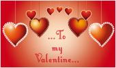 To my Valentine... — Stock Vector