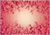 Valentine red hearts background — Stock Vector