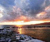 Stormy sunset — Stock Photo