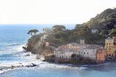 Silence bay promontory to sestri Levante — Stock Photo