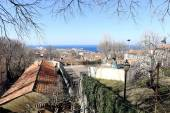 Trieste panoramic view from San giusto hill — Stock Photo