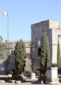 Glimpse of San giusto castle — Stock Photo