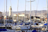 Glimpse of Trieste touristic harbor — Stock Photo