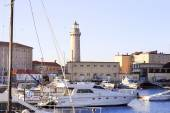 Detail of Trieste touristic harbor — Stock Photo