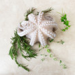 Fresh octopus with aromatic herbs — Stock Photo #73982071