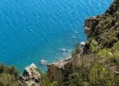 Fantastic seascape of Manara Cape, liguria — Stock Photo