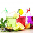 Summer fruits cocktail over white — Stock Photo #75349021