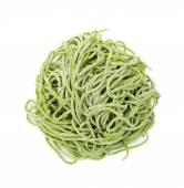 Home made green  egg pasta — Stock Photo