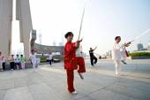 Shanghai Woman Tai Chi — Photo