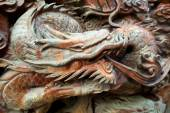 Wooden Carved Dragon — Stock Photo