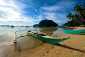 El Nido Canoe boat — Stock Photo