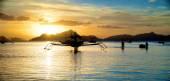 Beautiful Sunset in El Nido — Stock Photo
