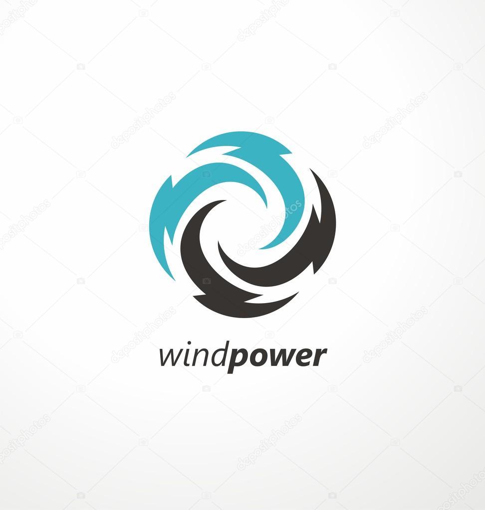 ダウンロード - 風エネルギー シンボルのデザイン ...