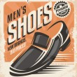 Men shoes retro poster design concept — Stock Vector #55897873
