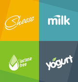 Dairy products logo designs templates — Stock Vector