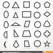 Set of geometric shapes — Stock Vector #61563633