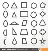 Set of geometric shapes — Stock Vector