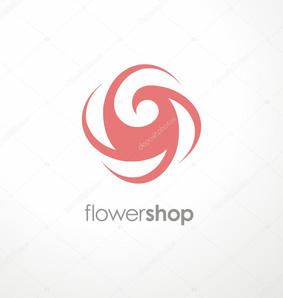 Download - Flower logo design concept u2014 Stock Illustration #69626069