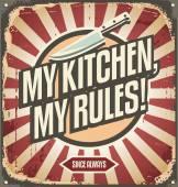 Vintage kitchen sign — Stock Vector