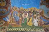 Exterior fresco of the Radu Voda Monastery, Bucharest — Stock Photo