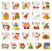 Christmas alphabet. — Stock Vector