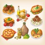 Постер, плакат: Italian food and meals